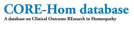 CORE-Hom database – Base de datos de investigacones clínicas homeopáticas publicadas